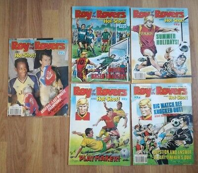 Job Lot X 5 Roy Of The Rovers Vintage Football Comics- June/july 1989- Excellent