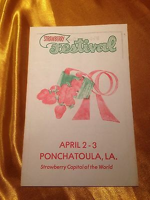 RARE & VTG 1977 Ponchatoula Louisiana Strawberry Festival Program Advertisement