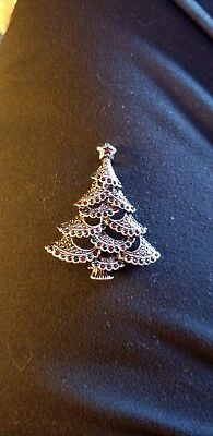 ❤AVON Iconic Holiday Tree Collectible Pin Engraved With Avon 2018 NIB