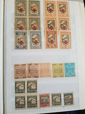 Old Estonian *** Stamps *** mix of franked and unfranked 4 pages