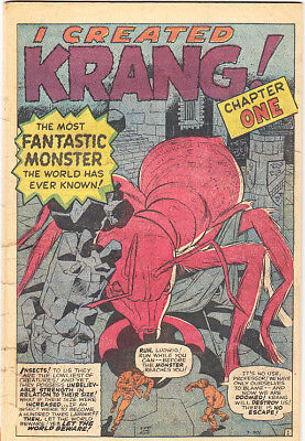 """TALES TO ASTONISH #14 Coverless Kirby Ditko """"Krang!"""" 1960 Marvel"""