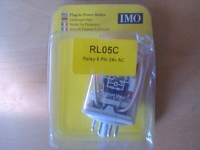 IMO RL05C RELAY 8 PIN 24V AC, 2 Pole Changeover (RS2PN24AC)