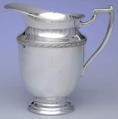 VINTAGE FB Rogers Pitcher ~ Silverplate ~ Art Deco ~ 607 ~ Made in USA ~ ll