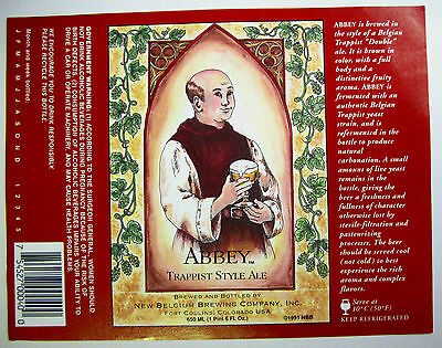 New Belgium ABBEY TRAPPIST STYLE ALE   beer label CO 650ml  Var #1