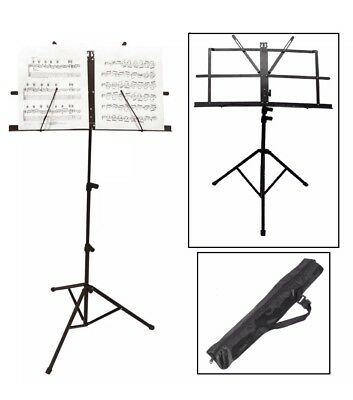Foldable Music Stand Orchestral Conductor Sheet Holder Base Tripod Heavy Duty