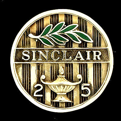 Early Vintage Sinclair Oil 14K Gold 25 Years Employee Service Award Lapel Pin