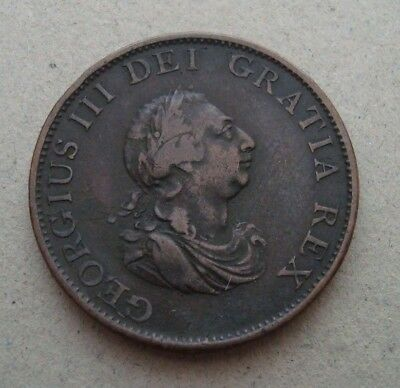 Uk-Half-Penny-1799-Copper-Coin-Britannia-King-George-Iii