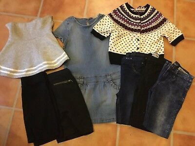 Girls Clothes Bundle Jeans, Skirts, Dress, Top Age 10-11