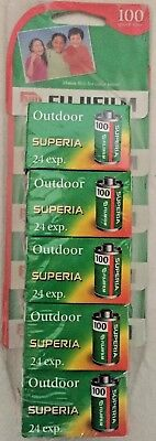 Fujifilm Superia 100 Expired Color 35mm Film  24 exp LOT