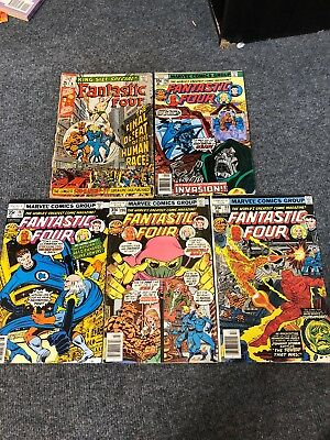 Fantastic Four Comic Book Lot 189, 196, 197, 198, Annual 8