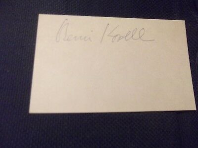 The Love Boat Get Smart BERNIE KOPELL hand signed card