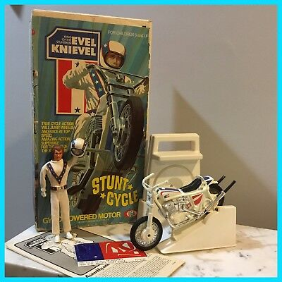 "Evel Knievel Stunt Cycle Set 1St Edition 1B ""No Reserve"""