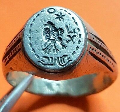 LEGIONARY ANCIENT SILVER ROMAN RING  ( Legio X Gemina )