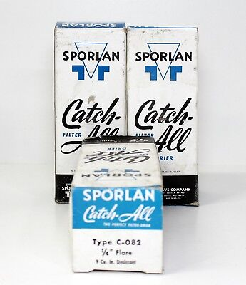 Lot Of 3 Sporlan Catch All Filter Drier Type C-082 1/4 Flare 9 cu NEW