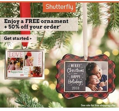 Personalized Ornament + 50% Off Order at Shutterfly.com Codes EXP 12/31/2018