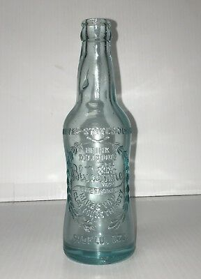 Vintage Soda Pop Beverage Bottle - Bludwine 6.5 oz  embossed Athens, GA
