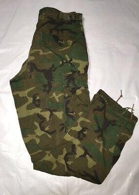 VTG USMC Hot weather camouflage Pattern Trousers Size Small Regular ERDL