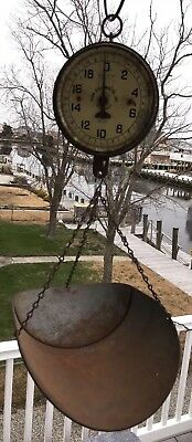 Antique Vintage 20 LB PENN SCALE MFG CO Hanging Country Store Style w/ Scoop Pan