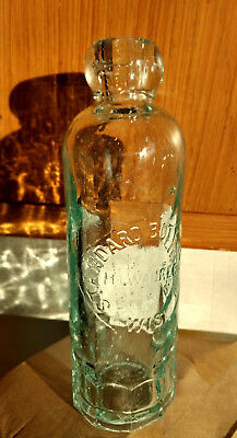 1890 Milwaukee Leopold Rother STANDARD Hutchinson soda water bottle Wisconsin