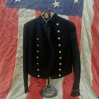 ** 19Th C. Post Civil War Naval Coat Navy Jacket Artillery **