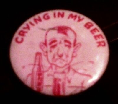 Vintage Crying In My Beer Pin