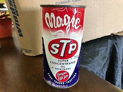 RARE Vintage 1960's MAGIC STP SUPER CONCENTRATED OIL TREATMENT Full 16OZ CAN