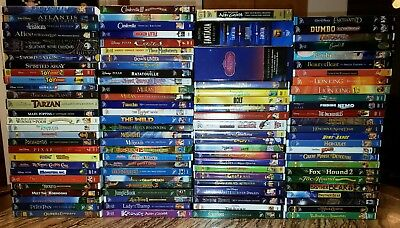 HUGE LOT of 105 Disney Movies on DVD - Many OOP & Sealed