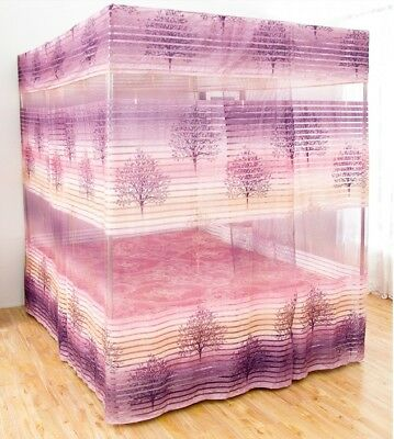 Single Cartoon Floor Type Dust Prevention Bed Canopy Mosquito Net Bed Curtain