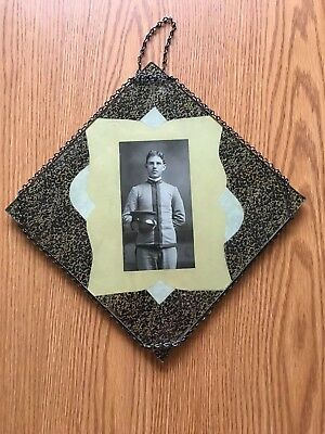 Old Louisiana State University LSU Cadet Photo In Chain Frame