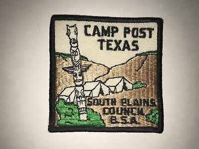 BSA CAMP C. W. POST VINTAGE PATCH, 1960's ? SOUTH PLAINS COUNCIL,BSA, BRAND NEW