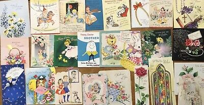 Vintage 1940-50's Used Assorted Occasion Greeting Cards Lot Of 26