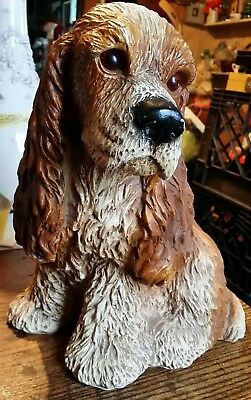 "COCKER SPANIEL Universal Statuary Statue Figurine Large 11.5"" puppy dog 1983"