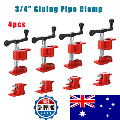 "4 Sets 3/4"" Gluing Pipe Clamp Woodworking Vice Hand Tool Wide Glue Clamp Surface"