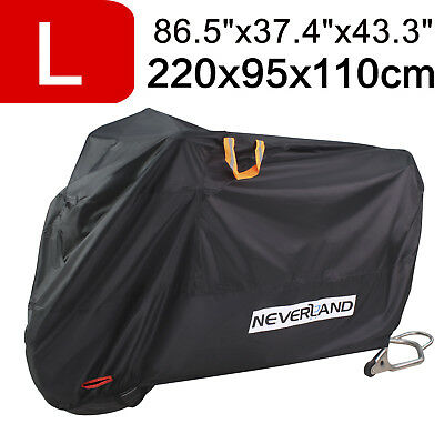 NEVERLAND Upgrade L Motorcycle Cover 210D Waterproof Heavy Duty Dust Protective
