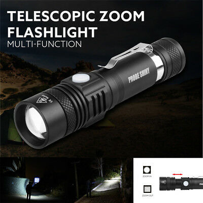 5Modes Tactical Police 5000LM Zoom XM-L T6 LED Flashlight Aluminum Torch Lamp