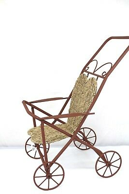 Vintage Reproduction Decorative Baby Stroller Pram