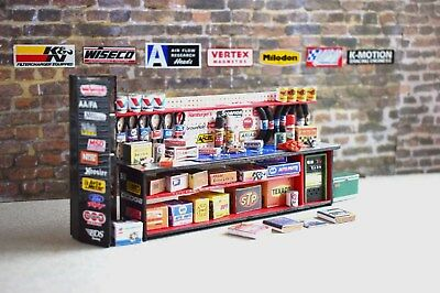1/24 Automotive Shop Bench; Built; Garage, Diorama; Painted All parts included
