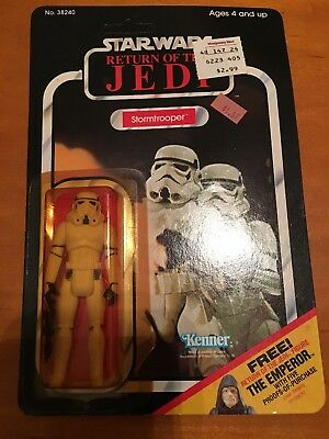 Vintage Star Wars Stormtrooper Kenner Return of the Jedi  65 back  Unpunched