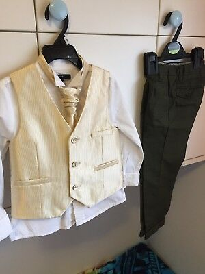 Wedding Waistcoat And Tie Boys