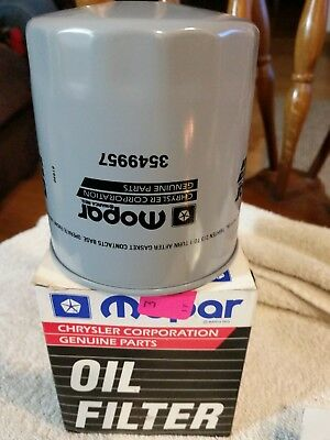 Mopar Oil Filter NOS with original box. 1970 Super Bee 3549957.