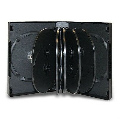 5 PCS Multi 12 Disc DVD Cases CD Storage Black Holds Tweleve