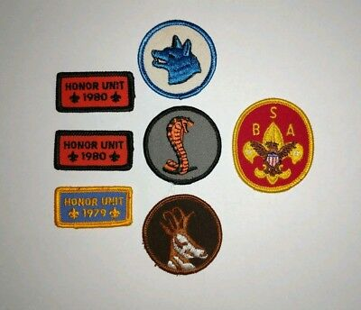 Lot of 7 Vintage Boy Scouts of America Patches