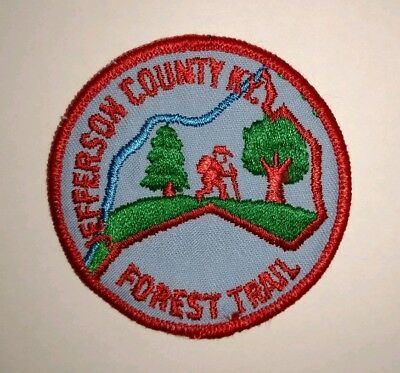 Vintage Jefferson County Kentucky Forest Trail Boy Scouts of America patch BSA