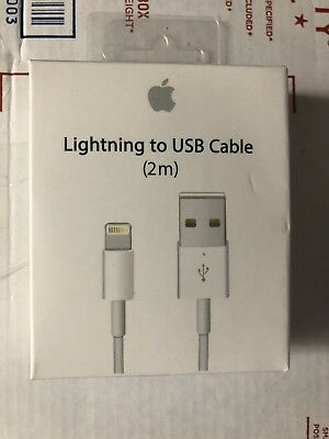 Apple Lightning to USB Cable - 2M 6ft For iPhone 5,5s,6,6s,6 Plus 7,8