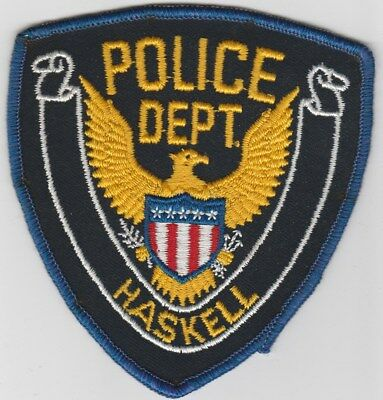 vintage Haskell, Texas Police Dept patch  TX  old style