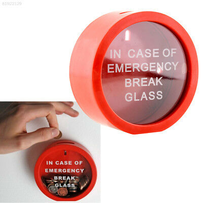 157A Novelty Safe Round Red Money Box In Case Of Emergency Coin Gadget Gift