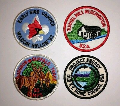 Set of 4 Vintage Boy Scouts of America Patches BSA Kentucky KY