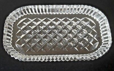 "Waterford! Irish Crystal Alana 8.5"" Vanity Tray Signed NR"