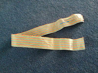USED 50 Conductor Flat Ribbon Cable, colored, at least 30 inches