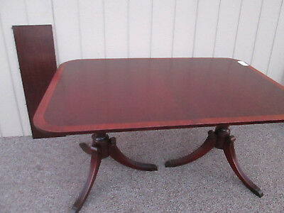 """57057-T9    Banded Mahogany Dining Table   40"""" x 60"""" TOP"""